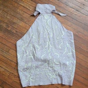 Vintage Gucci silk backless halter top
